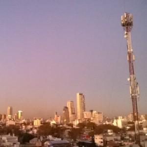 ブエノスアイレスの朝焼け