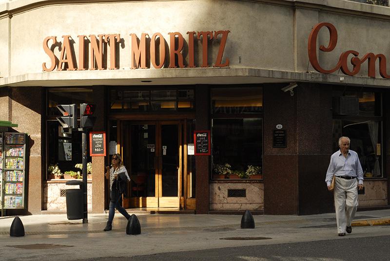"""レティーロ地区にあるカフェ """"SAINT MORITZ"""""""